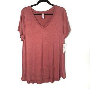 LuLaRoe Size Large Christy Tee V Neck Pink New